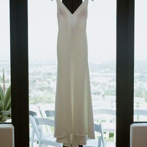 Sarah Seven Belmont Wedding Gown Dress V Back Neck